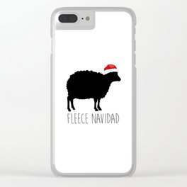 Fleece Navidad Clear iPhone Case