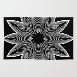 Simple Lines Mandala 2 Rug