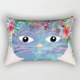 Flower cat II Rectangular Pillow