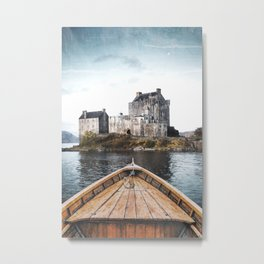 The Boat and the Castle-Scotland Metal Print
