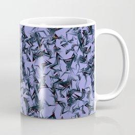 Blue starry dense texture on a burgundy background. Coffee Mug