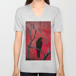 The Color Red Unisex V-Neck