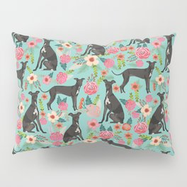 Italian Greyhound pet friendly pet portraits dog art custom dog breeds floral dog pattern Pillow Sham