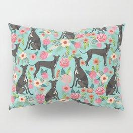 Italian Greyhound pet friendly pet portraits dog art custom dog breeds floral dog pattern Pillow Sham