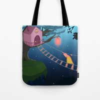 climbing Tote Bags featuring Climbing by Loezelot