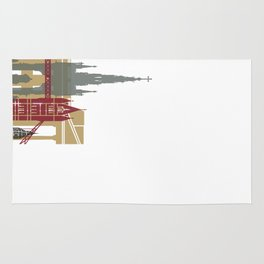 London skyline poster Rug