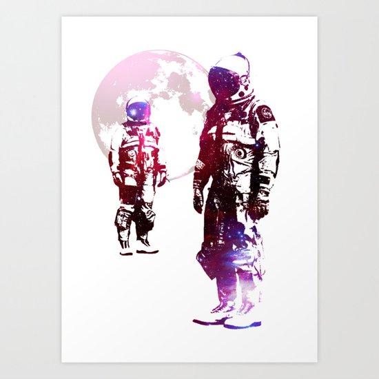 Space Men Art Print