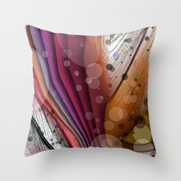 FALL INTO WINTER ABSTRACT ART Throw Pillow