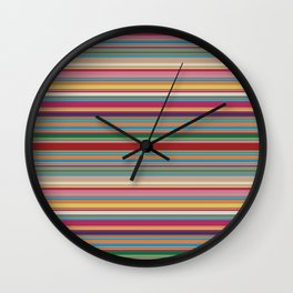 Colored lines Wall Clock