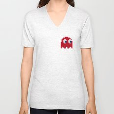 Pac-Man Red Ghost Unisex V-Neck