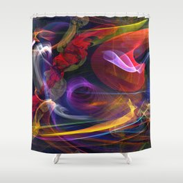 The Art of Flight Shower Curtain