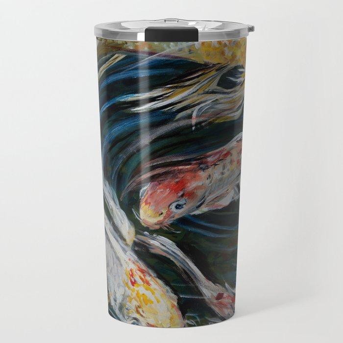 Butterfly Koi Travel Mug