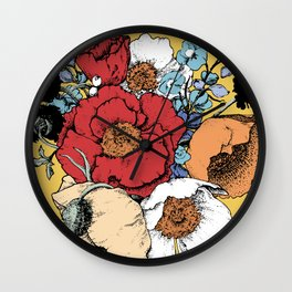 Bouquet Shield Wall Clock