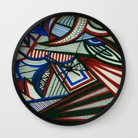 3d Wall Clocks featuring 3D by Jess D'Angelo