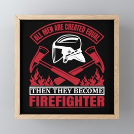 Few Become Firemen Firefighter Fire Axes Helmet Framed Mini Art Print