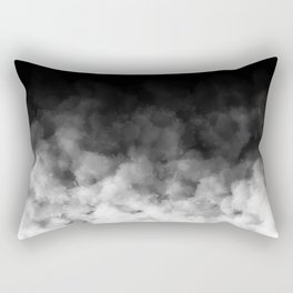 Ombre Black White Clouds Minimal Rectangular Pillow