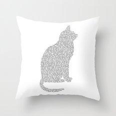 Cat - Cut out Throw Pillow