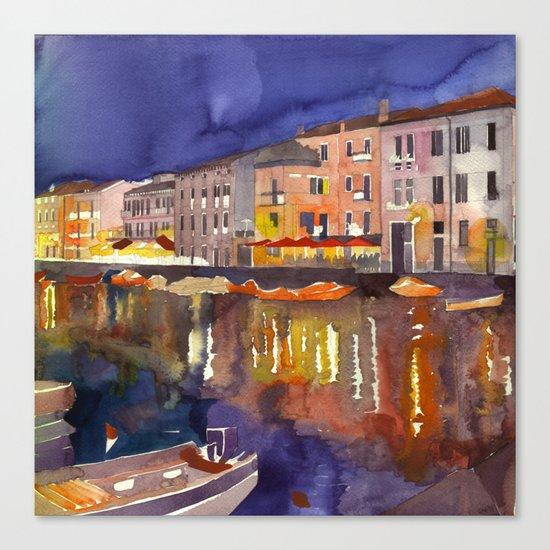 Night in Venice part 1 Canvas Print