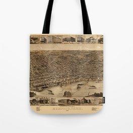 Map Of Memphis 1887 Tote Bag