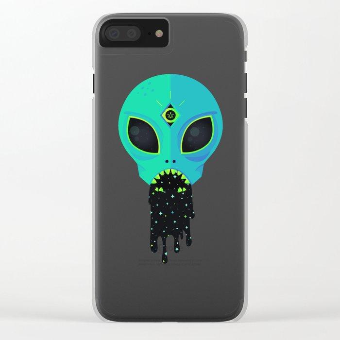 Alien Flu Clear iPhone Case