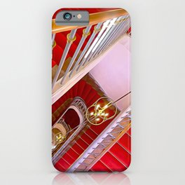 Red Stairs by Lika Ramati iPhone Case