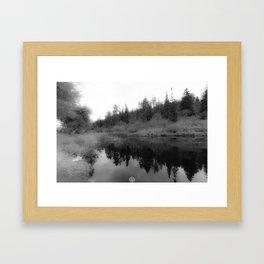 REFLECTING PEACE Framed Art Print