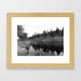 REFLECTING PEACE Framed Art Print