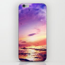 Neon Beach iPhone Skin