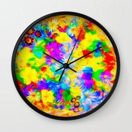 Floral Feast I Wall Clock