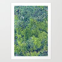 moss Art Prints featuring Moss by Scarlet