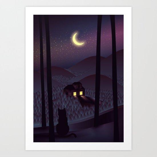 Silent Watcher Art Print