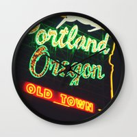 portland Wall Clocks featuring Portland! by Elle Hanley Photography