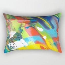 Finger Paint Rectangular Pillow
