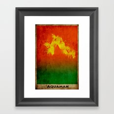 AquaMan Framed Art Print