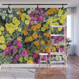 Bright and beautiful flowers Wall Mural