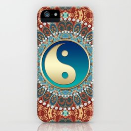 Bohemian Batik Yin Yang iPhone Case