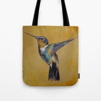hummingbird Tote Bags featuring Hummingbird by Michael Creese