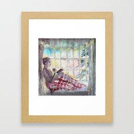 Reading Season:Wintertime Framed Art Print