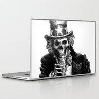 sam smith Laptop & iPad Skins featuring Uncle Sam by Motohiro NEZU