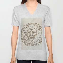 the mouth of truth Unisex V-Neck