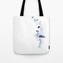 Adrift in Glitch Tote Bag