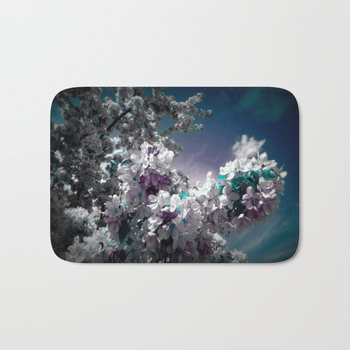 Flowers Purple & Teal Bath Mat
