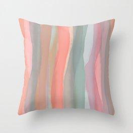 Peachy Watercolor Throw Pillow