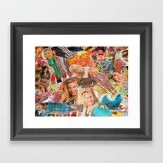 magazine collage Framed Art Print