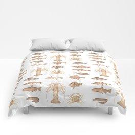 Vintage Assorted Fish Comforters