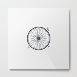 Bicycle rim with the solar system Metal Print