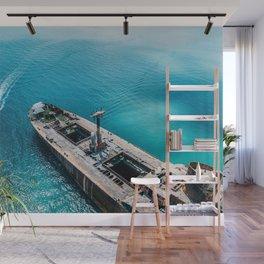 Even If The Ship Goes Down, I Won't, Aerial Print, Shipwreck Print, Art Print, Modern Wall Art, Sea Wall Mural