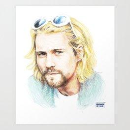 KurtCobain Art Print
