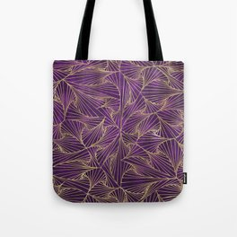 Tangles Violet and Gold Tote Bag