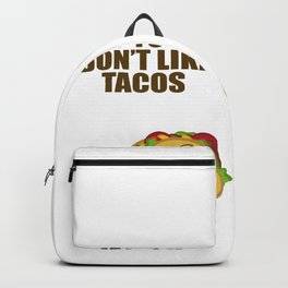 Taco Nacho Mexico Food Salad Meat Fan Gift Backpack